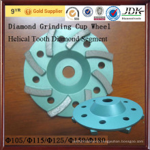 Helical Tooth Diamond Segment Diamond Grinding Cup Wheel for Concrete